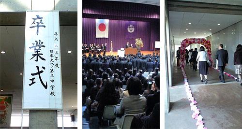 第65回 日本大学第三中学校卒業証書授与式