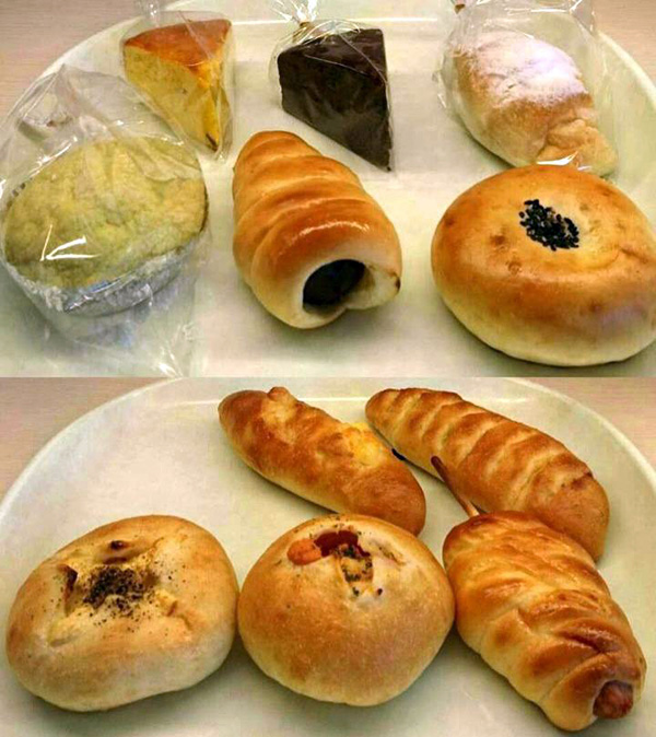 パンの試食風景